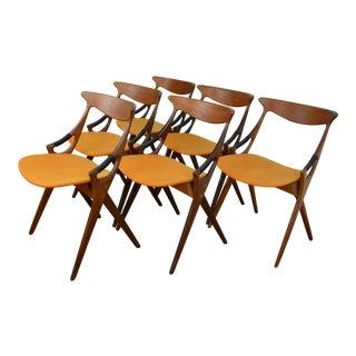 Rare Set of Six Arne Hovmand-Olsen for Mogens Kold Dining Chairs