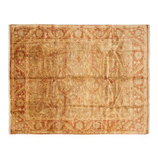 "New Gold Wash Indian Oushak Design Carpet - 7'11"" X 10'1"" For Sale"