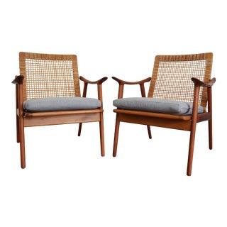 """Fredrik Kayser for Vatne Lenestolfabrikk """"Model 571"""" Chairs - A Pair For Sale"""