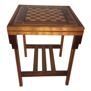 1940s Vintage Chess/Checkers Table