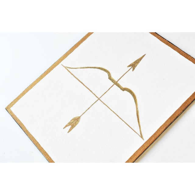Contemporary Contemporary Neoclassical Gold Gilt Bow & Arrow Painting For Sale - Image 3 of 4