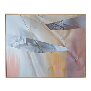Large Hard Edged Abstract Painting by Geoff Machin For Sale
