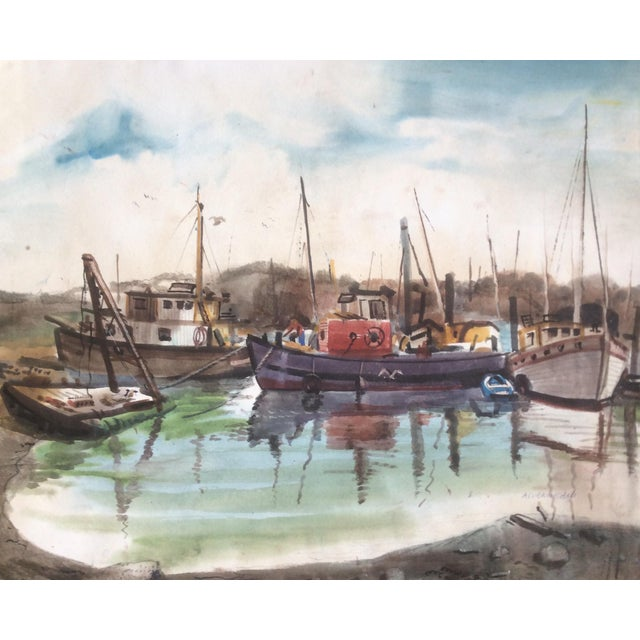 Fishing Boats Watercolor For Sale - Image 11 of 11