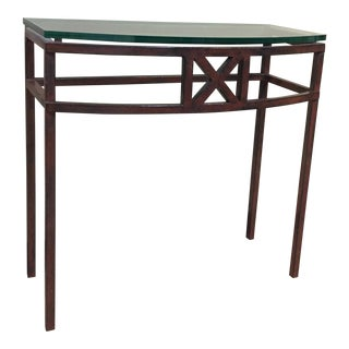 1990s Mid-Century Modern Armando Bow Front Console For Sale