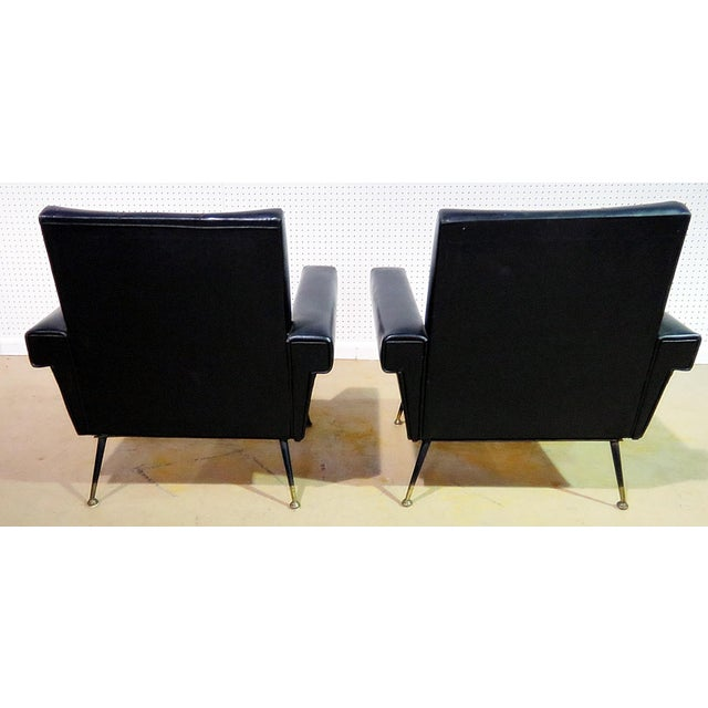 Mid Century Vintage Italian Arm Chairs - a Pair For Sale - Image 4 of 11
