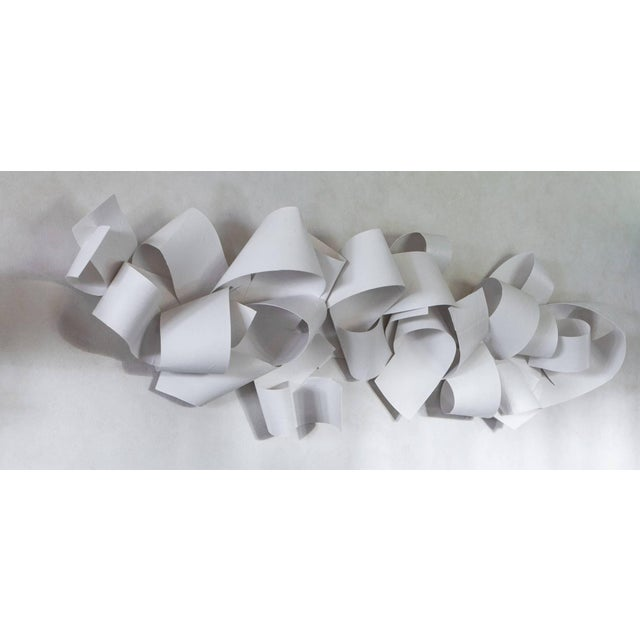 Contemporary 21st Century White Wall Paper or Plaster Sculpture by Aimee Wise For Sale - Image 3 of 7