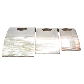 Lino Sabattini Decorative Candle Holders - Set of 3