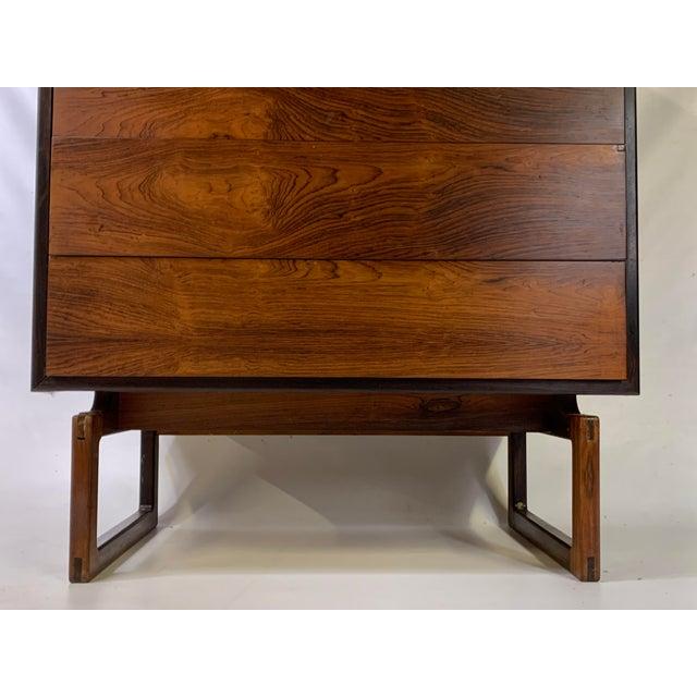 Mid-Century Modern 1960s Mid-Century Modern Arne Hovmand Olsen for Mogens Kold Mobelfabrik Rosewood Secretary Desk For Sale - Image 3 of 13
