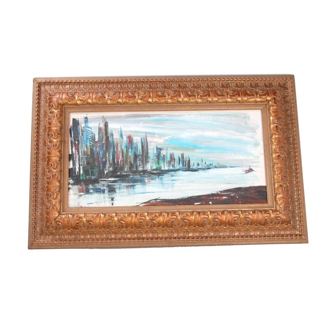 """Rod Rodgers Painting, """"East Side Skyline"""" For Sale"""