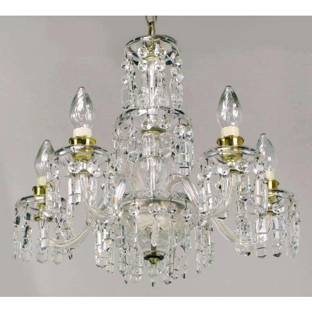 Lightolier Cut-Crystal Five-Arm Chandelier, Circa 1940s For Sale - Image 12 of 12