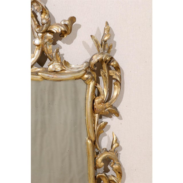 Gold Early 20th Century Italian Gold and Silver Gilt Mirror For Sale - Image 8 of 11