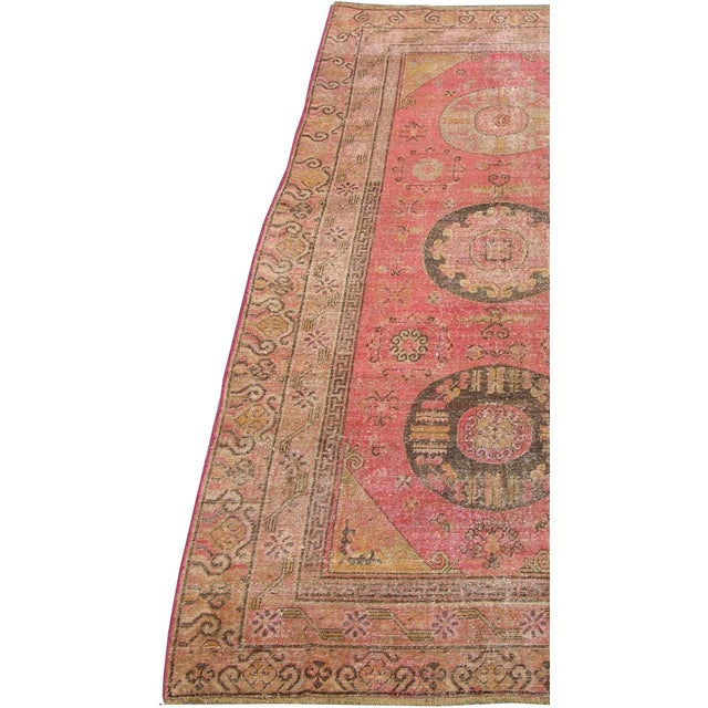 "Antique Samarkand Rug-5'8'x10"" For Sale - Image 4 of 6"