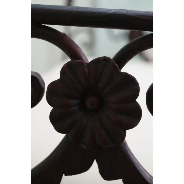 Black Iron Frame Regency Style Bench For Sale In Philadelphia - Image 6 of 10