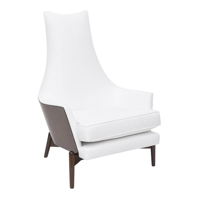 A Danish Modern Dark Walnut Lounge Chair, Ib Kofod Larsen For Sale