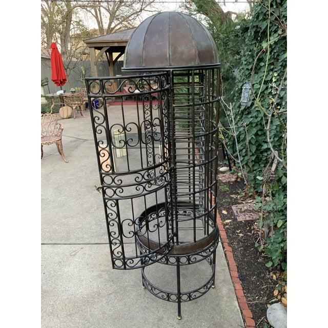 Maitland - Smith Maitland-Smith Copper Domed and Iron Wine Rack For Sale - Image 4 of 12