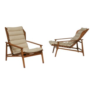 Gio Ponti Reclining Lounge Chairs For Sale