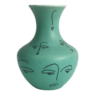 """Little Faces on a Little Vase"" Decorative Vase by Carly Kuhn"