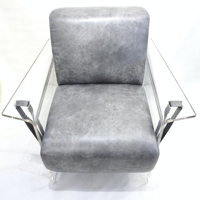 Bespoke Modernist Lucite Acrylic Lounge Armchair - in Showroom For Sale - Image 12 of 12