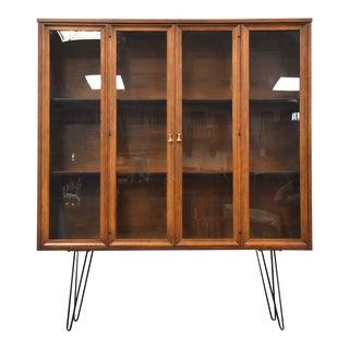 Broyhill Walnut Mid Century Bookcase For Sale