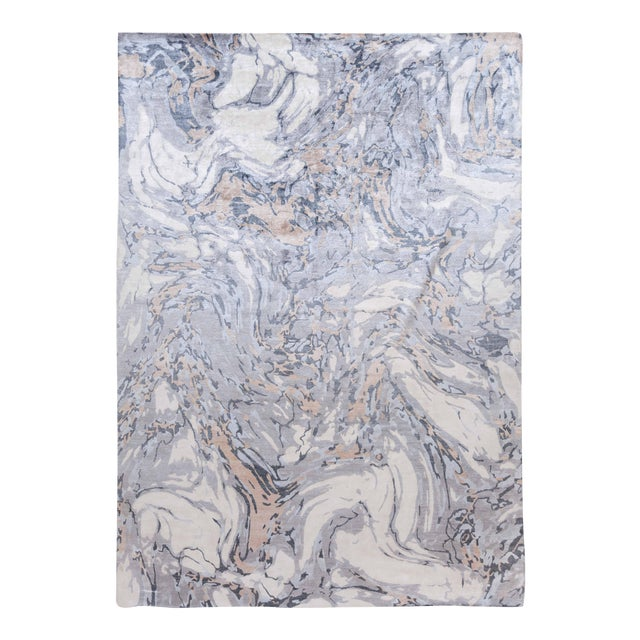21st Century Modern Abstract Wool Rug For Sale