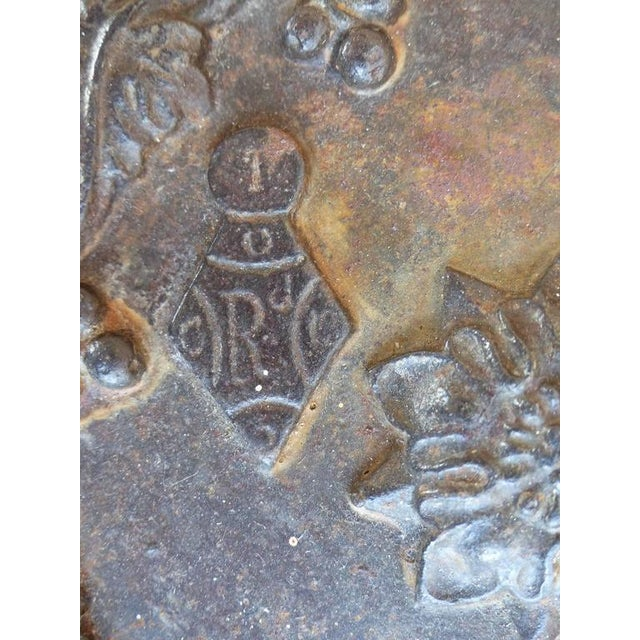 Metal 19th Century Antique Decorative Iron Safe For Sale - Image 7 of 10