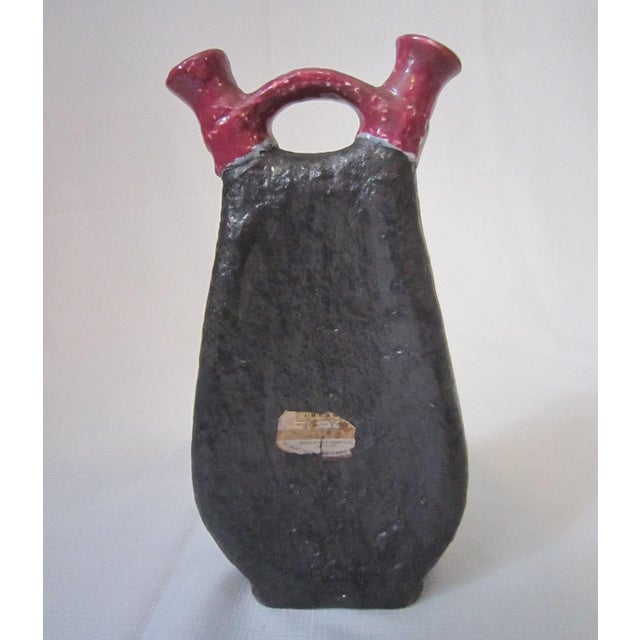 Vintage Italian Art Pottery Decanter For Sale - Image 4 of 8