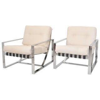 Italian Neo Rationalist Club Chairs - a Pair For Sale