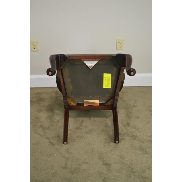 Henkel Harris Queen Anne Style Mahogany Pair of Arm Chairs #110a For Sale - Image 11 of 12