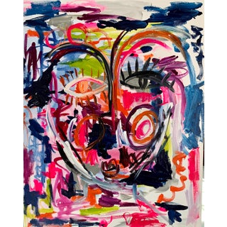 """""""1985"""" Contemporary Abstract Face Painting by Ebony Boyd For Sale"""
