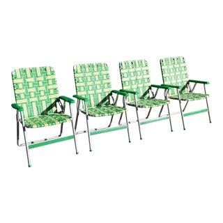 Vintage Aluminum Retro Folding Chairs - Set of 4 For Sale