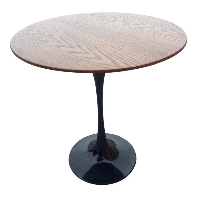 1960s Knoll Style Walnut Tulip Table For Sale