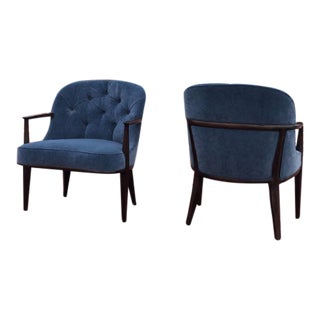 """Vintage Edward Wormley for Dunbar """"Janus"""" Chairs- a Pair For Sale"""