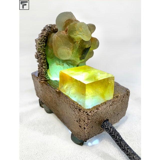 "Micah Heimlich Light Sculpture: Sea Sponge Series ""Tardigrade"" Lamp, Gems, Bronze For Sale - Image 4 of 4"
