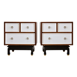 American of Martinsville Chinoiserie Style Nightstands - a Pair For Sale