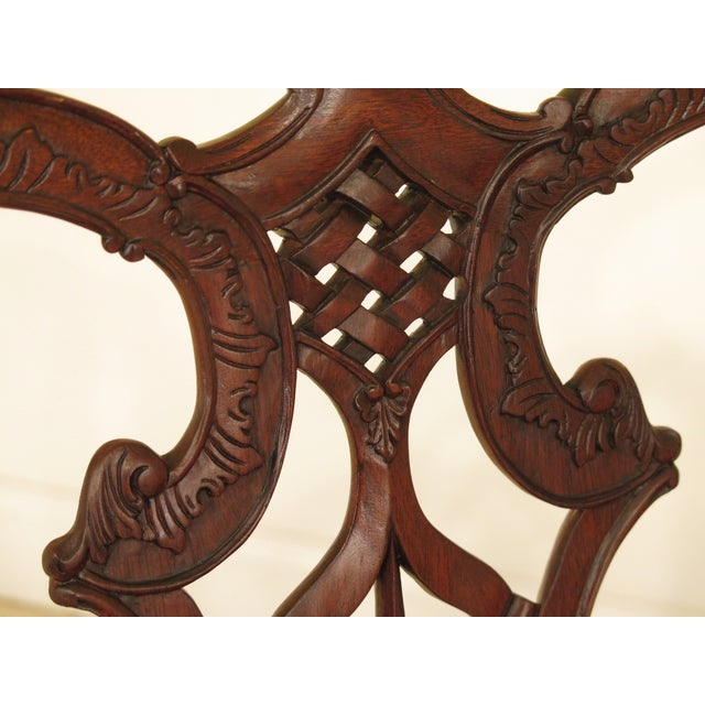 Chippendale Mahogany Settee Bench For Sale In Philadelphia - Image 6 of 11