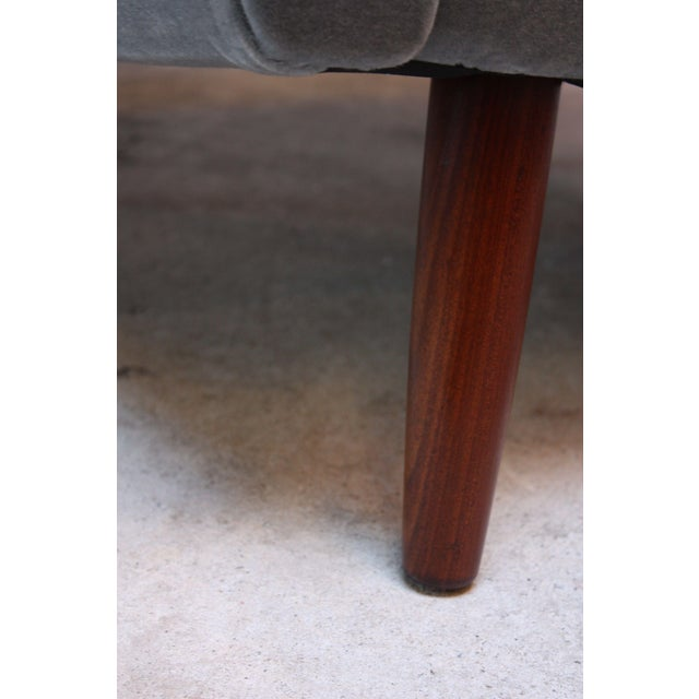 Pair of Danish Modern Teak and Mohair Lounge Chairs For Sale - Image 10 of 11