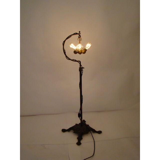 Antique Victorian Cast Iron Adjustable Floor Lamp - Image 7 of 11