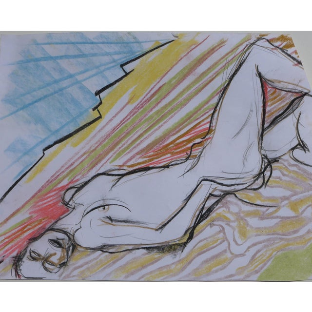 Sunbather Pastel Drawing - Image 1 of 5