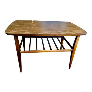 Altavista Lane Mid-Century Modern Walnut Side Table-Set (2) For Sale