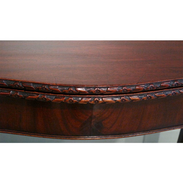 18th Century George III Mahogany Serpentine Front Game Table - Image 5 of 10