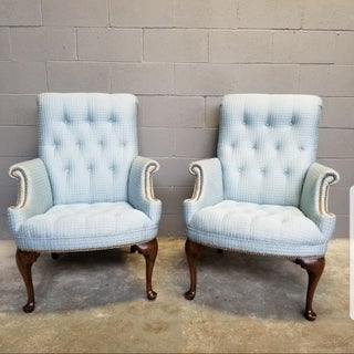 1970s Vintage French Provincial Tufted Arm Chairs- A Pair Preview