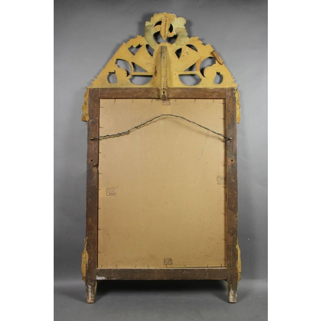 Late 18th Century Louis XVI Giltwood Mirror For Sale - Image 5 of 6