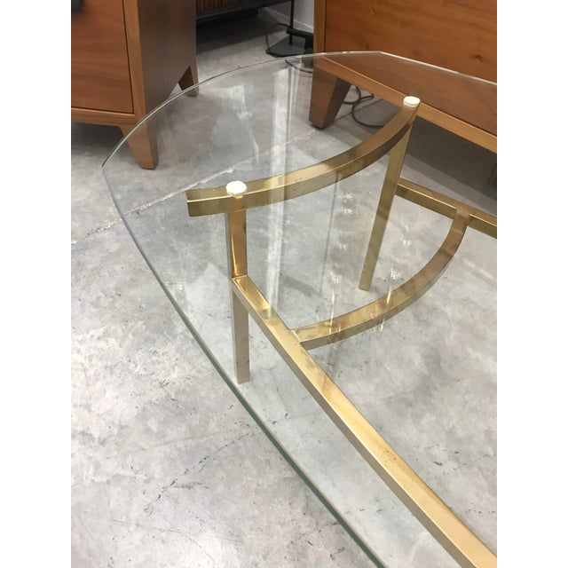 Brass 1970s Vintage Italian Brass Coffee Table For Sale - Image 7 of 9