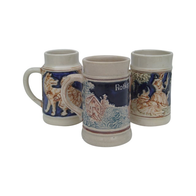 Antique German Childrens Steins - Set of 3 - Image 1 of 11