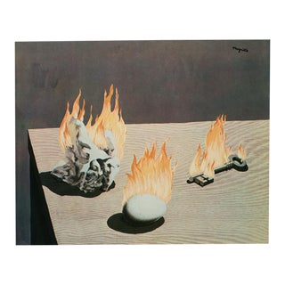 """1972 Rene Magritte, """"The Gradation of Fire"""" Original Photogravure For Sale"""