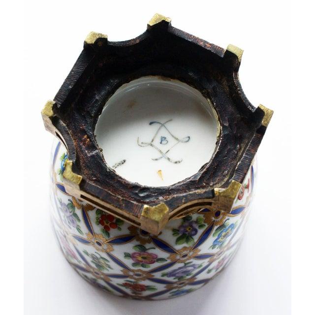 Sevres Porcelain Covered Jar with Gilt Bronze Mounts For Sale - Image 4 of 5