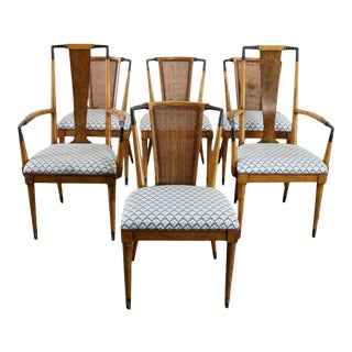 Mid Century Modern Metz Contempora Dining Chairs by William Clingman - Set of 6 For Sale
