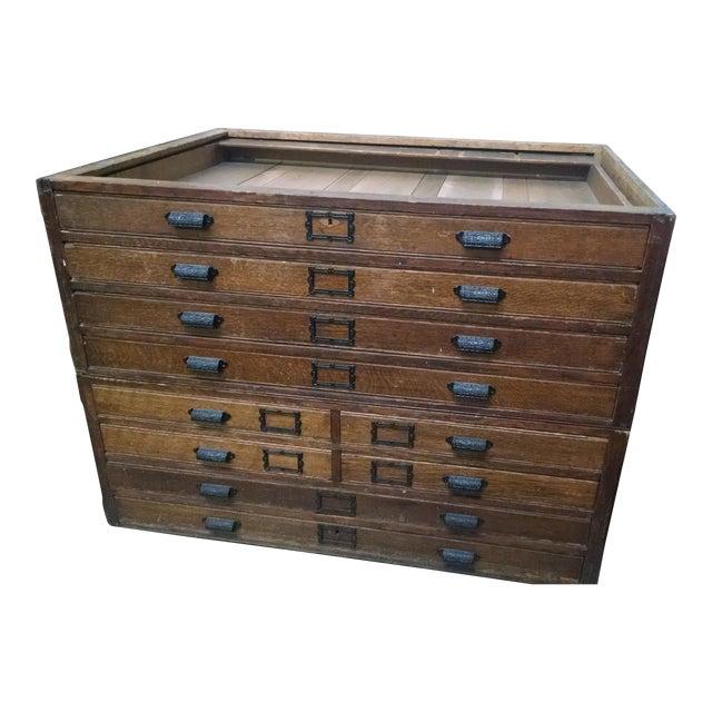 Antique mapblueprint cabinet chairish antique mapblueprint cabinet malvernweather Choice Image