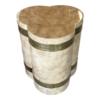 1970s Mid-Century Modern Mastercraft Bernard Rohe Decorated Drum Table For Sale