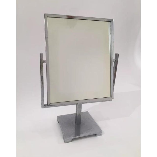 Vintage Art Deco Double Sided Chrome Vanity Mirror - Image 2 of 7